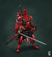 Mech Deadpool - Trisword by cjcenteno