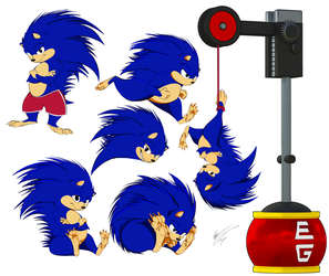 Sonic The Hedgehog Refined Redesign by GunZcon