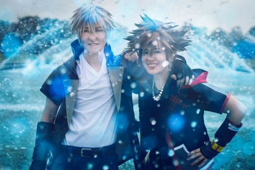 Sora and Riku by twinfools