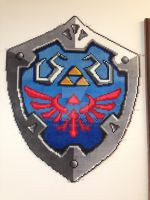Perler Legend of Zelda Hylian Shield by PerlPop