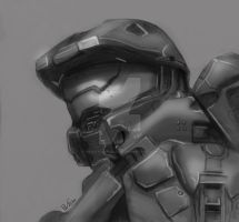 Master Chief Quickie by PaulTheDoodlebug