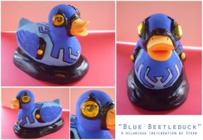 Blue Beetleduck by Myrcury-Art
