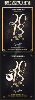 New Years Eve Flyer Template by Hotpindesigns