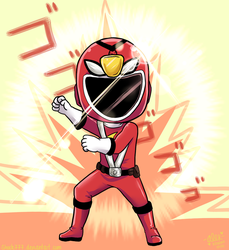 The Red Ranger!! by shock777