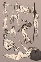 2 Minute Pose studyes by HARuNIS