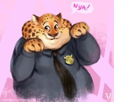 Nya Clawhauser Zootopia by vertry