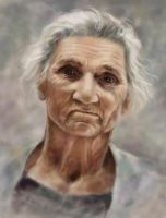 Portrait of the old woman by Nika67