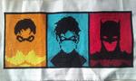 Batman Family Cross stitch by WhispMI21
