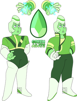 Mystery Adopt- Green Agate by XombieJunky