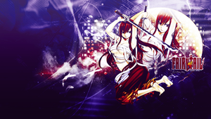 Fairy Tail Erza Wallpaper by Lunaris-Pulvis
