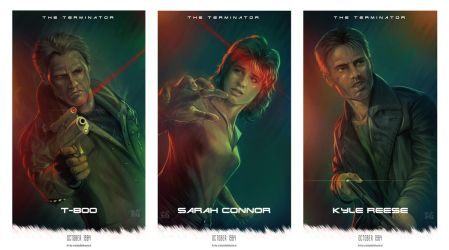 The Terminator (1984) tribute posters by cdelafuente