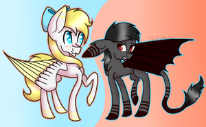 Angel Light and Dark Shadow by TheKittyKatUnion