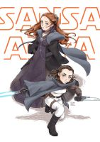 Star wars theme : Girls of Stark planet by Janenonself