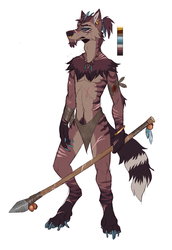 ANTHRO TRIBAL WOLF AUCTION OPEN by Loukami