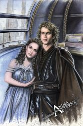 Padme/Anakin Commission by AnimaEterna