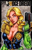 Judge Anderson bust cover by gb2k