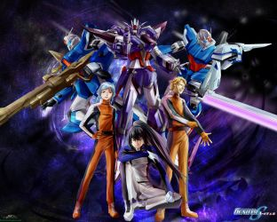 Gundam SEED A-STAR - TEAM PURPLE ROSE(1) - by csy5150