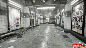 Unreal Engine 4 Small Subway by DaminDesign