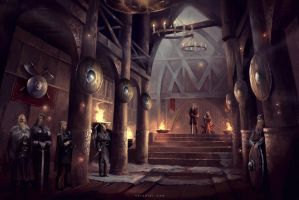 Viking Hall by Nele-Diel