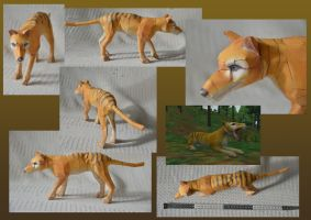 Zoo Tycoon Paper Collection - Thylacine by DrWheelieMobile