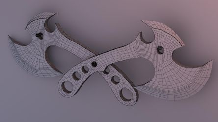 Curved Axes- wire render by JWright-3D-Graphics