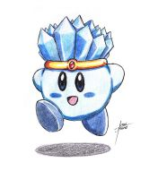 Color Practice: Ice Kirby by amaitsuno