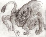monster with allot of teeth by akcuFathoM