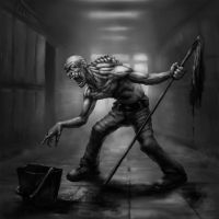 Ghoul Janitor by TeroPorthan