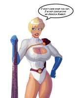 Power Girl - the breast cosplay by morganagod