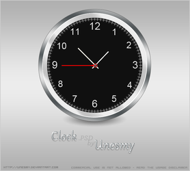 Clock .PSD by Unesmy