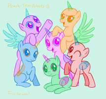 Mlp Mane Six Group Base by peach-tea-adopts