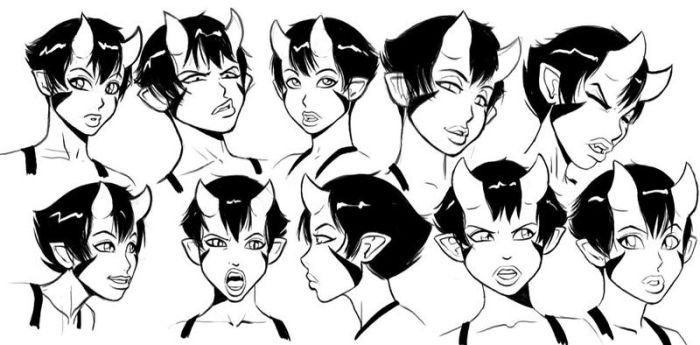 Kit Head Sketches by ExMile