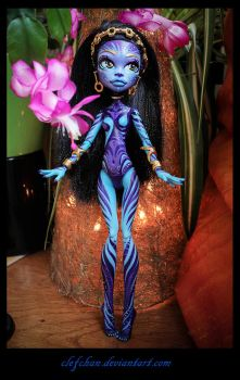 monster high ooak repaint : Alma2 by clefchan