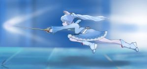 RWBY: Weiss Schnee - Flying Attack by Soolinn