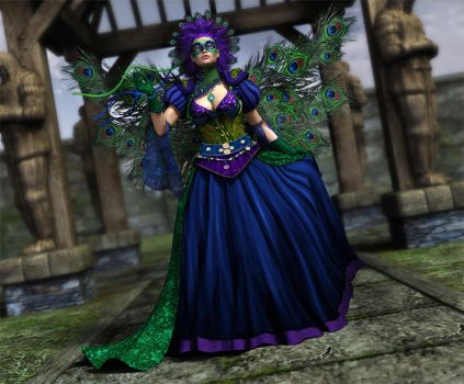 Queen - Peacock Fairy by LeAndraDawn