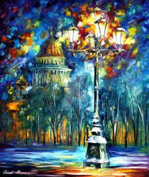 Night St. Petersburg by Leonid Afremov by Leonidafremov