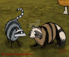 Don't Starve: Catcoon and Raccoon Dog by DreamWithinTheHeart