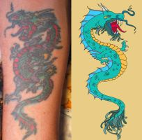 Fire and Water Tattoo Design by tsunami-umi