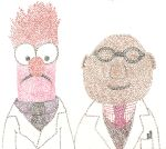 Beaker and Dr. Bunsen :p by psycho-gummybearz
