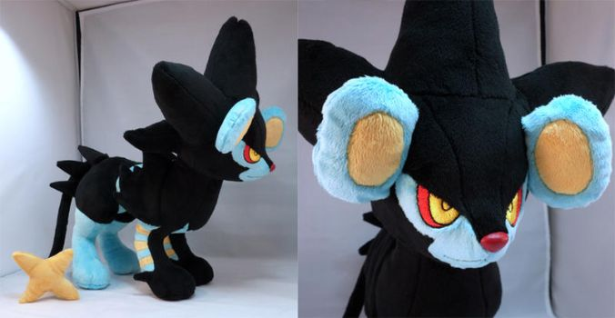 Luxray Plush by makeshiftwings30