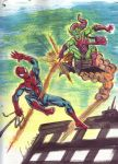 Watercolor Spidey by hdub7