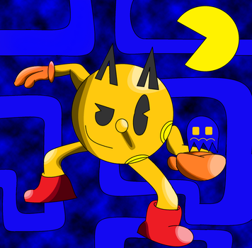 Super Smash Bros- Pac-Man by Thesimpleartist4