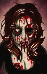 Zombie Steph by androidfink