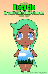 Earth-chan by darkrchaos