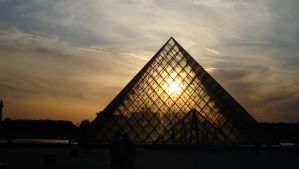 Sunset Through the Louvre by Bobby01