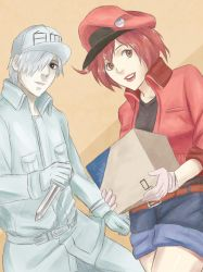 Cells at Work (White and Red Blood Cell) by naruto3119