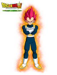 Vegeta God Red Film DBS Broly by cdzdbzGOKU