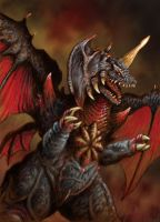 Destroyah by ChrisQuilliams