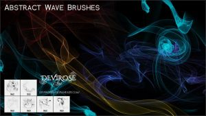 Abstract Wave Brushes by Devirose81