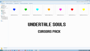 UNDERTALE  SOULS cursors pack by muriiinedeath